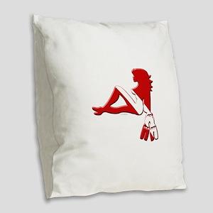 Got Water Girl Burlap Throw Pillow