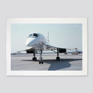 Super! Supersonic Concorde 5'x7'Area Rug