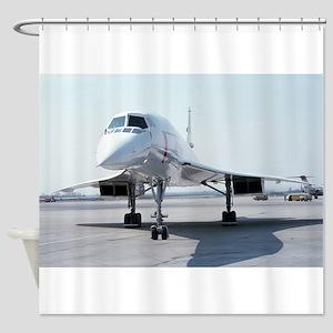 Super! Supersonic Concorde Shower Curtain