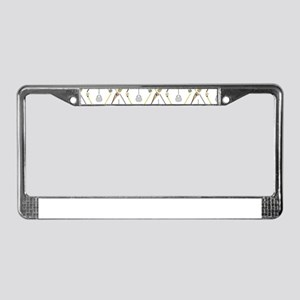 Five Lacrosse Sticks License Plate Frame
