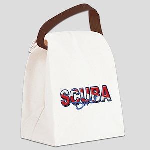 SCUBA Diver Canvas Lunch Bag