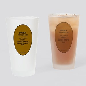 Books: Open with Care Drinking Glass