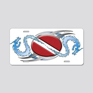 Dive Flag: Dragons Aluminum License Plate