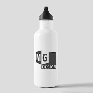 MG Design Logo in Gray Water Bottle