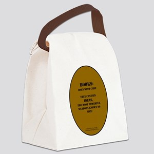 Books: Open with Care Canvas Lunch Bag