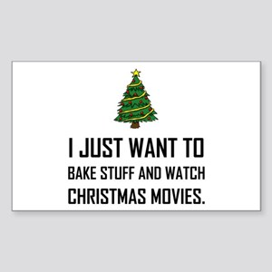 Bake Stuff Watch Christmas Movies Sticker