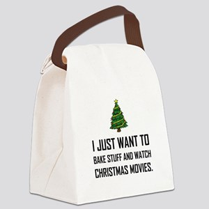 Bake Stuff Watch Christmas Movies Canvas Lunch Bag