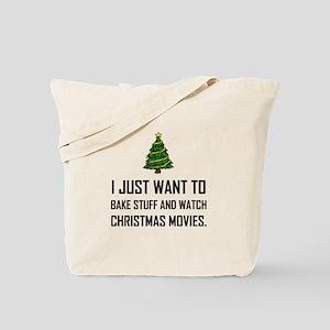Bake Stuff Watch Christmas Movies Tote Bag