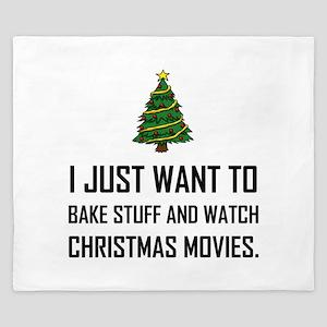 Bake Stuff Watch Christmas Movies King Duvet
