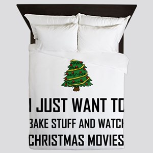Bake Stuff Watch Christmas Movies Queen Duvet