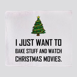 Bake Stuff Watch Christmas Movies Throw Blanket