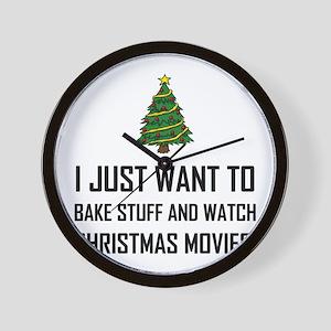 Bake Stuff Watch Christmas Movies Wall Clock