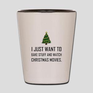 Bake Stuff Watch Christmas Movies Shot Glass
