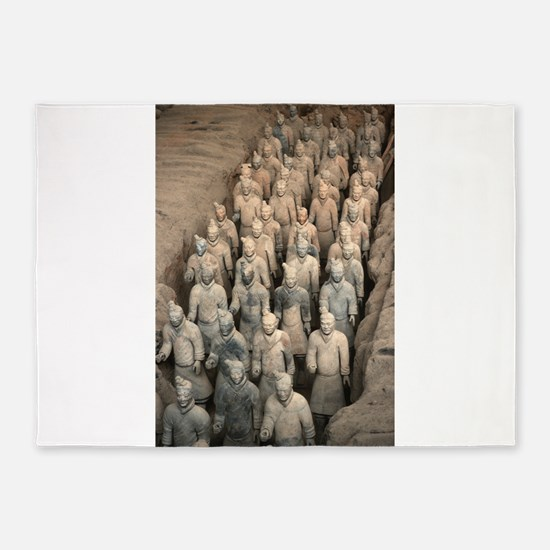 Terracotta Army, China. 5'x7'Area Rug