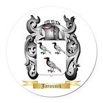 Janousek Round Car Magnet