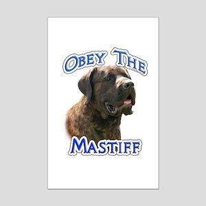 Mastiff (brindle) Obey Mini Poster Print
