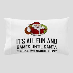 Santa Checks Naughty List Pillow Case