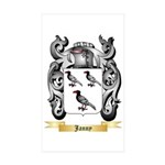 Janny Sticker (Rectangle 50 pk)