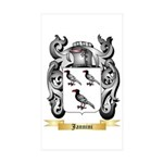 Jannini Sticker (Rectangle 50 pk)