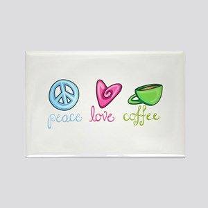PEACE LOVE COFFEE Magnets