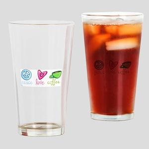 PEACE LOVE COFFEE Drinking Glass