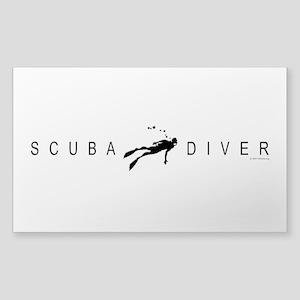 Scuba Diver: Band 2 Sticker (Rectangle)