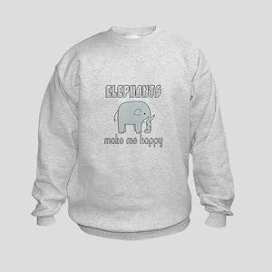Elephants Make Me Happy Sweatshirt