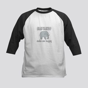 Elephants Make Me Happy Baseball Jersey