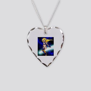 Kitsune Necklace Heart Charm