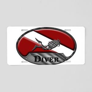 Diver Plaque (W) Aluminum License Plate