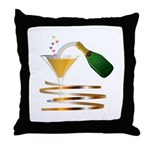 Champagne Party Celebration Throw Pillow