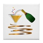 Champagne Party Celebration Tile Coaster