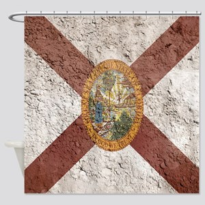 Basement Wall Florida Flag Shower Curtain
