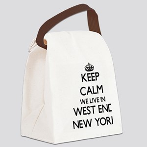 Keep calm we live in West End New Canvas Lunch Bag