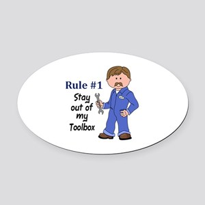 STAY OUT OF MY TOOLBOX Oval Car Magnet
