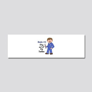 STAY OUT OF MY TOOLBOX Car Magnet 10 x 3