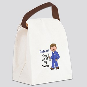 STAY OUT OF MY TOOLBOX Canvas Lunch Bag
