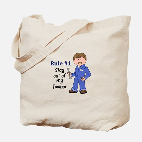 STAY OUT OF MY TOOLBOX Tote Bag