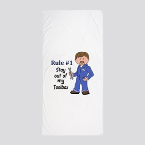 STAY OUT OF MY TOOLBOX Beach Towel