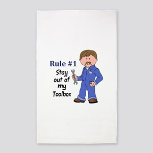 STAY OUT OF MY TOOLBOX Area Rug