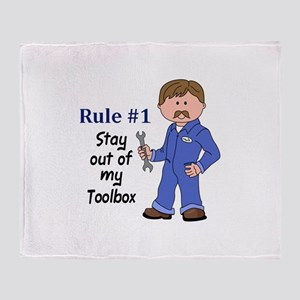 STAY OUT OF MY TOOLBOX Throw Blanket