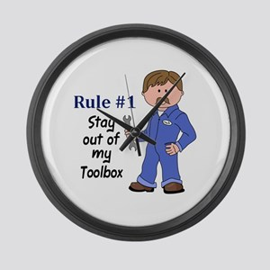 STAY OUT OF MY TOOLBOX Large Wall Clock