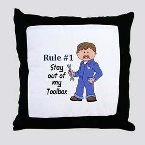 STAY OUT OF MY TOOLBOX Throw Pillow