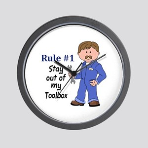 STAY OUT OF MY TOOLBOX Wall Clock