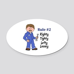 RIGHTY TIGHTY Oval Car Magnet
