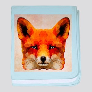 abstract fox baby blanket