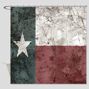 Cavern Wall Texas Flag Shower Curtain