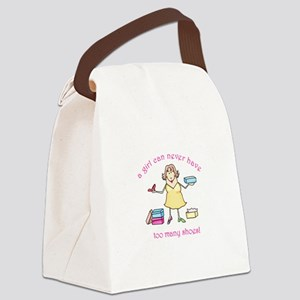 TOO MANY SHOES Canvas Lunch Bag