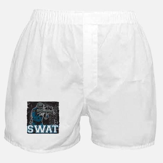 Police SWAT Team Member Boxer Shorts