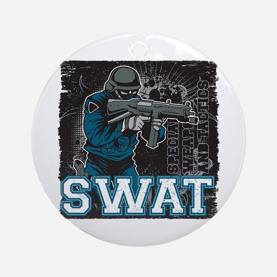 Police SWAT Team Member Ornament (Round)
